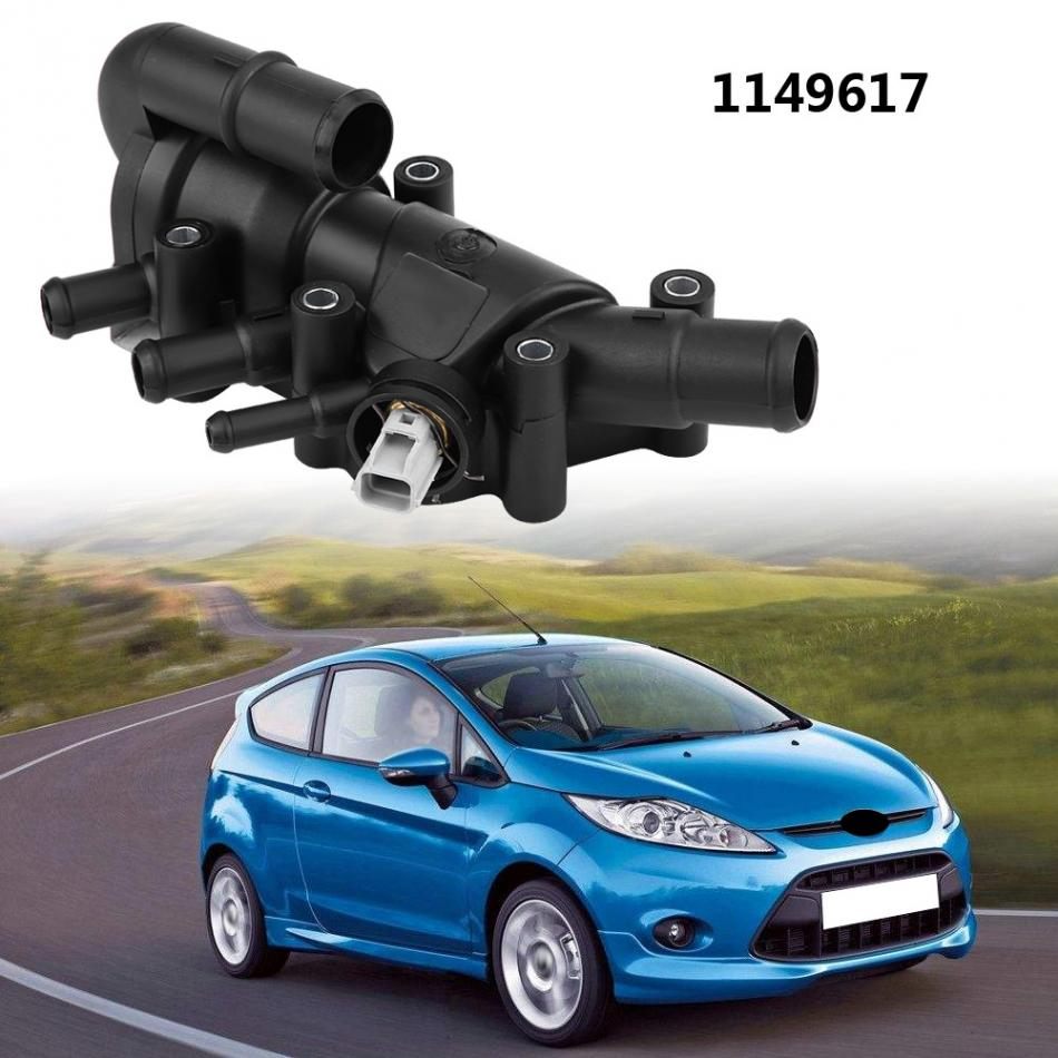 car engine coolant water outlet thermostat with housing assembly for