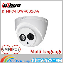 DaHua 6MP IP Camera IPC-HDW4631C-A POE Network Camera With Built-in Micro Upgrade model of 4MP Camera IPC-HDW4431C-A