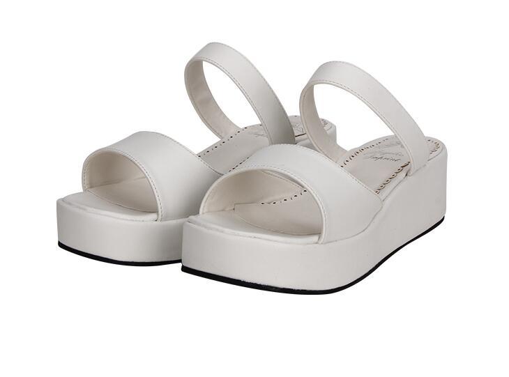Zapatos Bombas White Tacones Sandalia Impresión Mujer 5 Lolita Sandalias Girl Blanco Mujeres Mori Cm Mediados Angelical Señora Princesa Trifle Cuñas wqXvq1zS