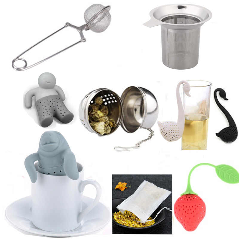 11 Styles Tea Infuser Plunger Healthy Intense Flavor Reusable Bag Plastic Coffee Strainer Measure Infusers Safe Clean F0