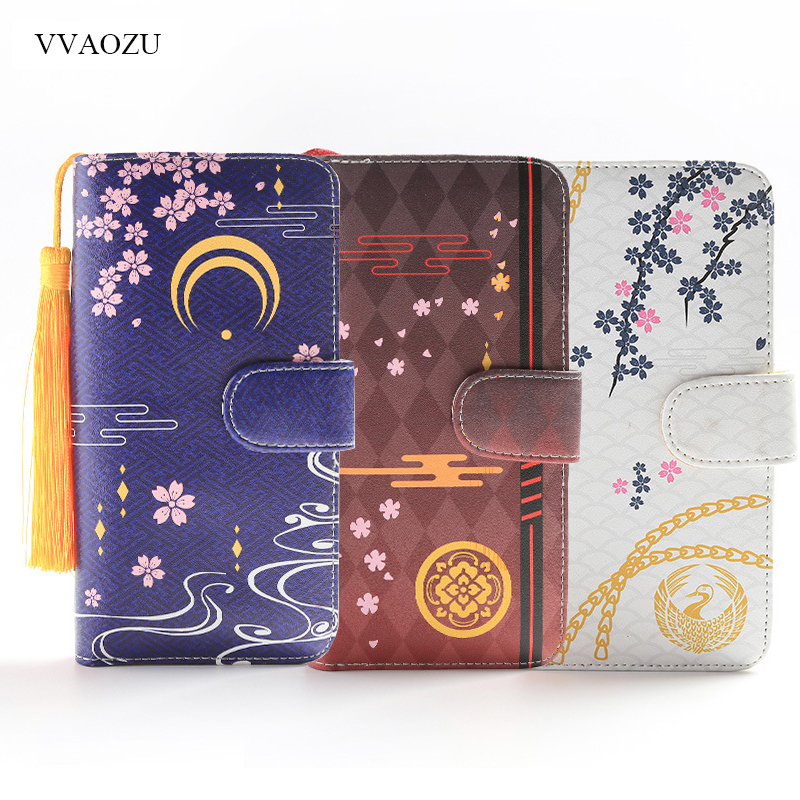 Touken Ranbu Online Long Wallet Women PU Leather Wallets Lady Clutch Zipper Card Holder Coin Pocket Female Purses with Tassels