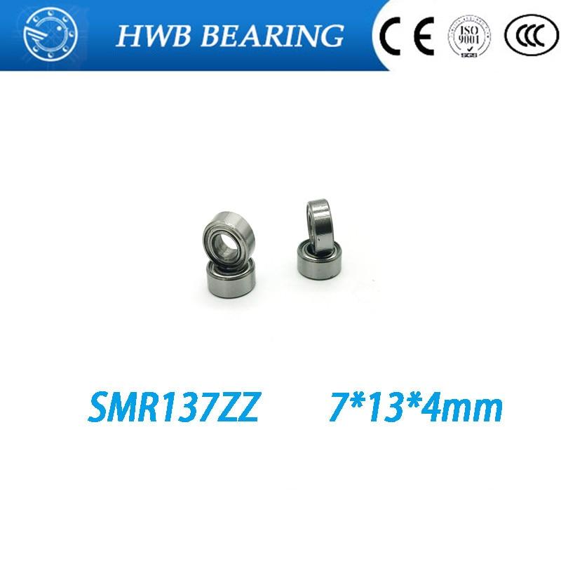 Free Shipping 4PCS  7x13x4  Metal Shields Bearings  Stainless Steel  SMR137 ZZ free shipping 4x7x2 5 metal shields bearings abec 7 stainless steel smr74 zz