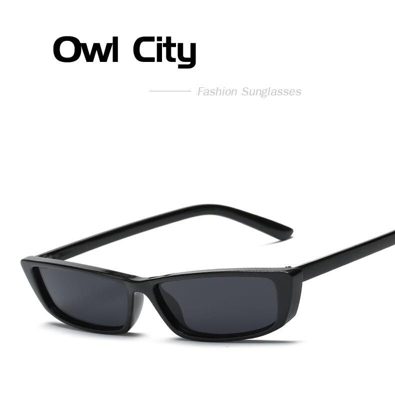 HTB1FRsOcRfM8KJjSZFrq6xSdXXa9 - Vintage Rectangle Sunglasses Women Brand Designer Small Frame Sun Glasses Retro Black Eyewear