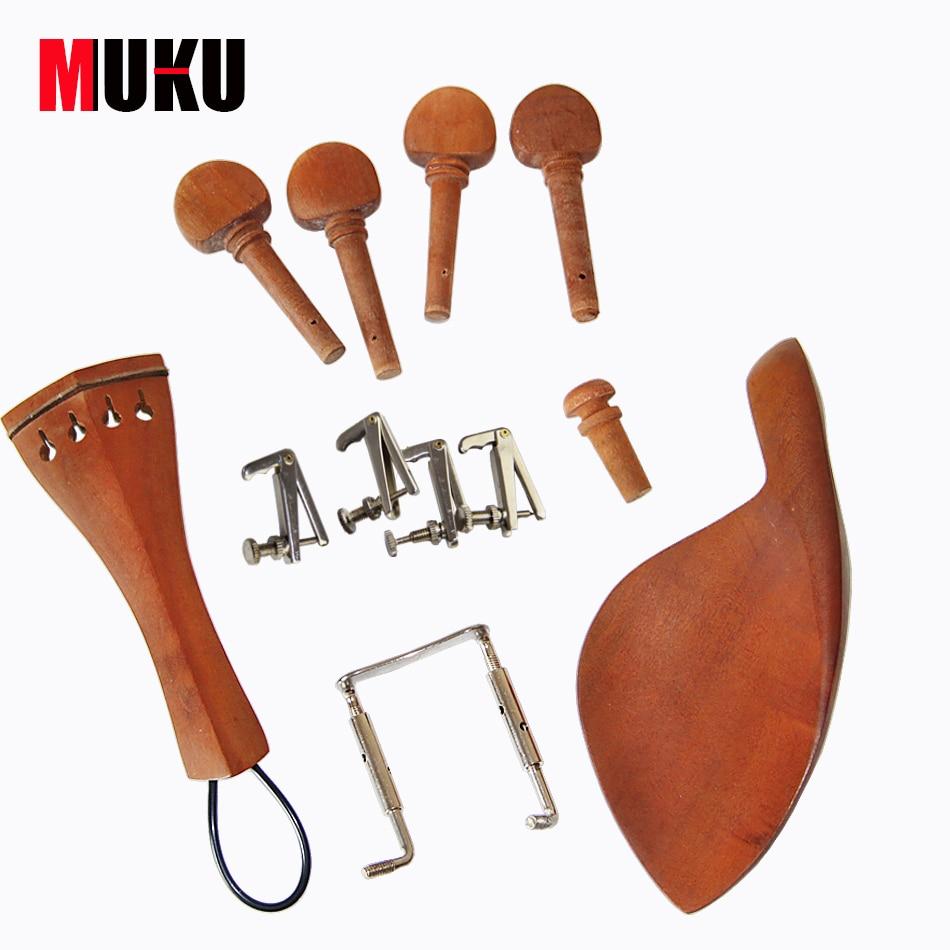 Juego de accesorios de violín acústico 4/4 de Jujube Wood, que - Instrumentos musicales - foto 1