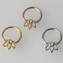 316L acier chirurgical 16G nez anneau mamelon captif perle anneau Piercing oreille corps bijoux