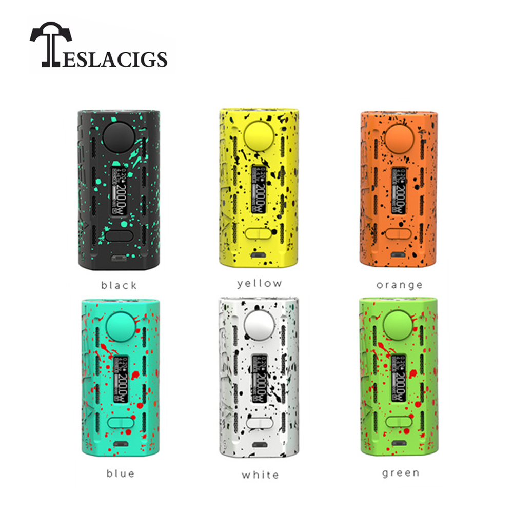 Cigarette électronique Original Teslacigs Tesla WYE 200 W Vape boîte Mod KA/TC-SS316/TC-Ni200/TC-Ti/TCR Mode Fit 18650 batterie
