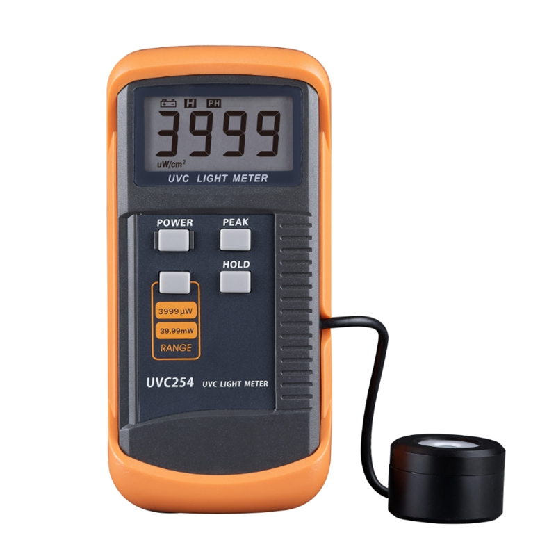 UVC Light Meter Narrow-band Spectrum 248nm-262nm High Precision Digital UV Radiation Intensity Detector Resolution Ratio:1uW/cm2
