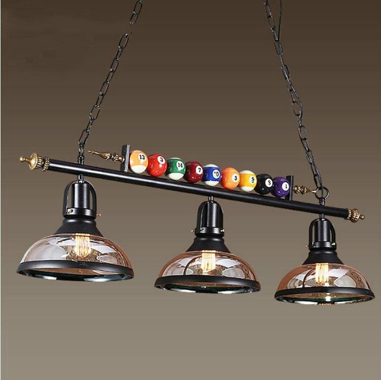 Table de billard créative suspension lampe nordique décorer lumières rétro industriel E27 lampes suspendues Restaurant Bar café lampe suspendue