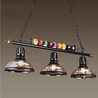 Creative billiard Table Pendant Lamp Nordic Decorate Lights Retro Industrial E27 Pendant Lights Restaurant Bar Cafe Hanging Lamp