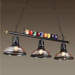 Kreative billardtisch Anhänger Lampe Nordic Lichter Schmücken Retro Industrie E27 Anhänger Lichter Restaurant Bar Cafe Hängen Lampe