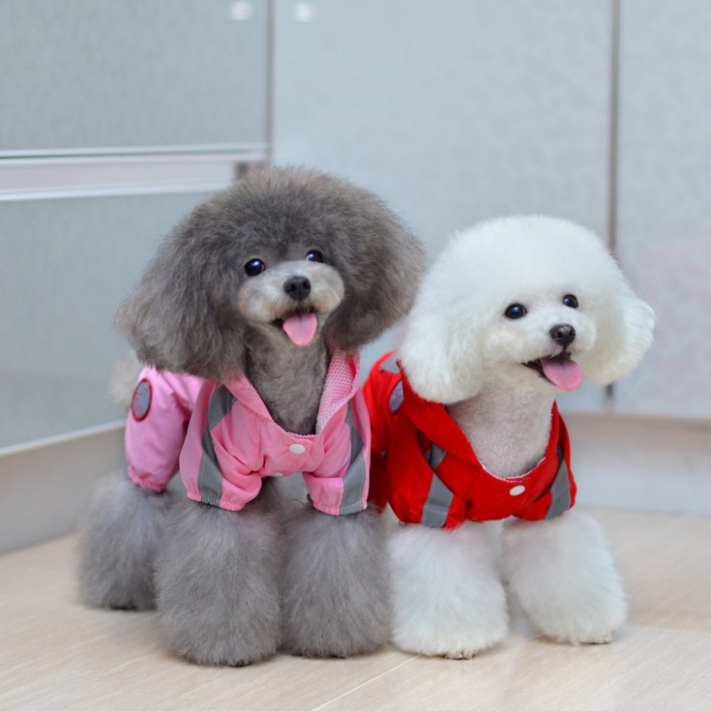 Small Pet Dog Hoody Jacket Rain Coat Waterproof Clothes Slicker Jumpsuit Apparel ...