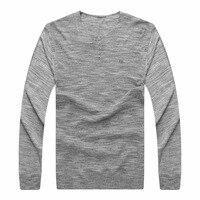 9XL 8XL 6XL 5X Solid Color Pullover Men Wool Cashmere Sweater Men Brand Mens V Neck