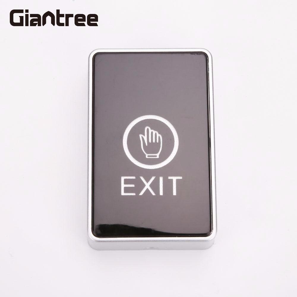 Giantree Square Touch Sensor Doors Button LED Light For Access Control Terminal Contact Door Square Touch Sensor Release Button