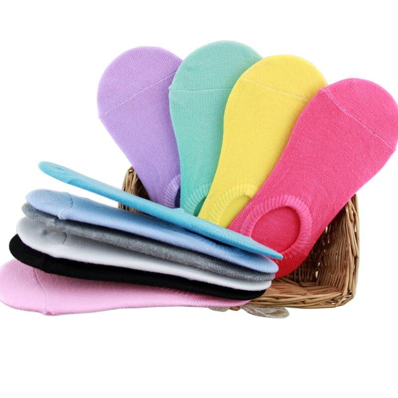 5 par lote moda verano mujeres colorido barco invisible Calcetines buena  calidad Algodón equipada casual Calcetines invisibles envío libre 195c159271594