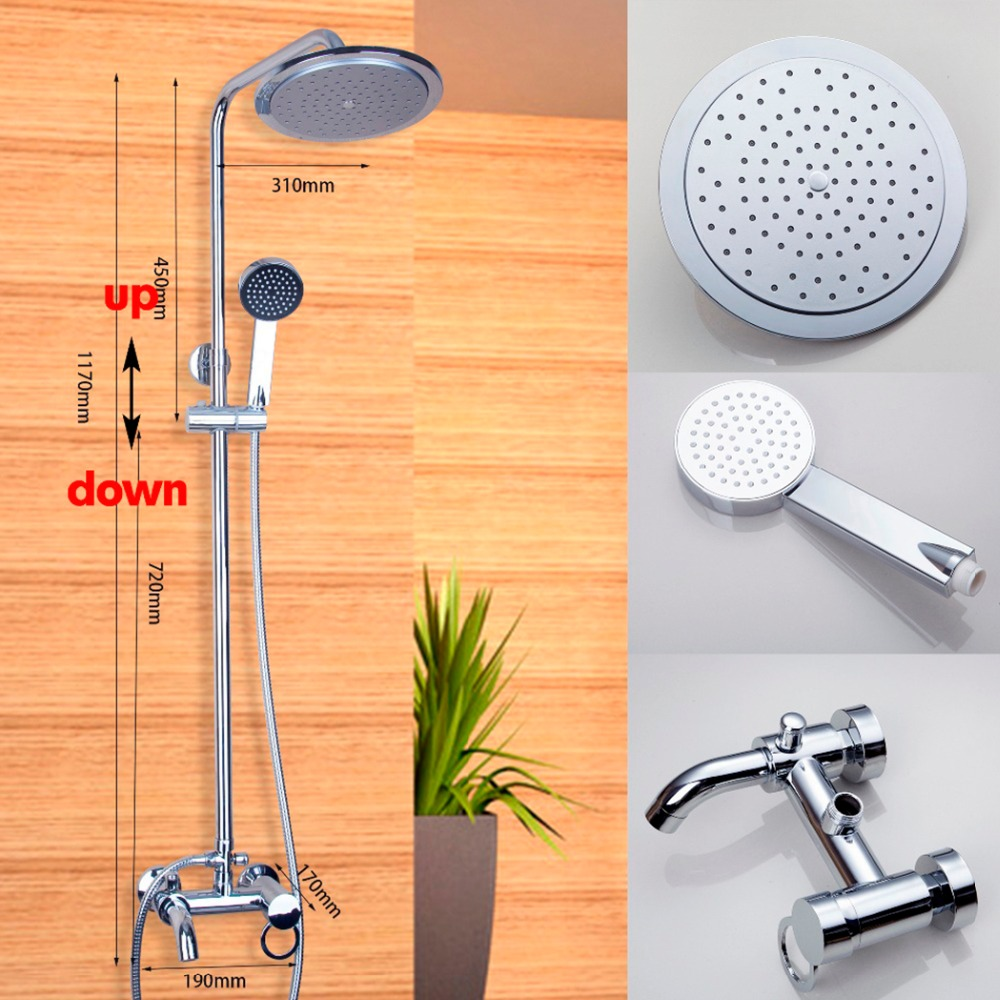Torayvino Superior Quality Bathroom Faucet Chrome Polished Wall Mounted Hot Cold Water Mixer Excellent Pretty Shower Faucet free shipping polished chrome finish new wall mounted waterfall bathroom bathtub handheld shower tap mixer faucet yt 5333