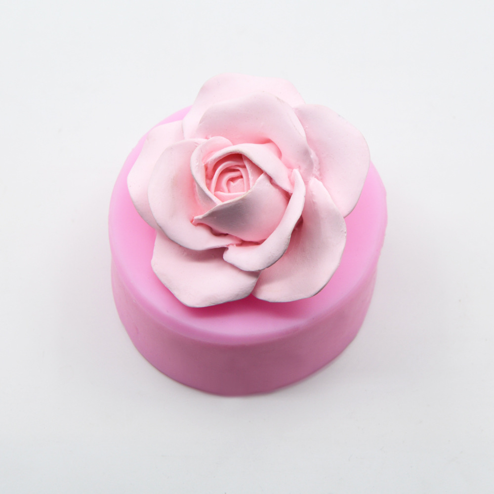3D Rose Flower Shape Silicone Soap Mold Making Cake Chocolate Mould Tray Homemade Making DIY Flower Candle Mold Wedding Cake