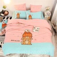 エジプト綿の花刺繍寝具セットシルク感サテンベッドリネン花葉布団カバー、シート、枕女王キングs