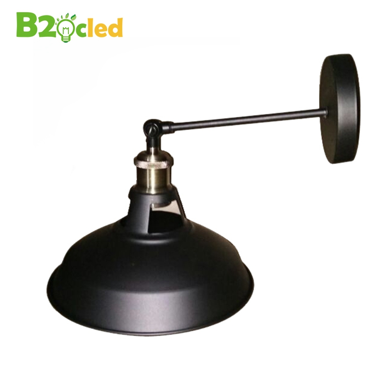 Quality retro wrought iron wall lamp black with 4W st 64 warm white bulb