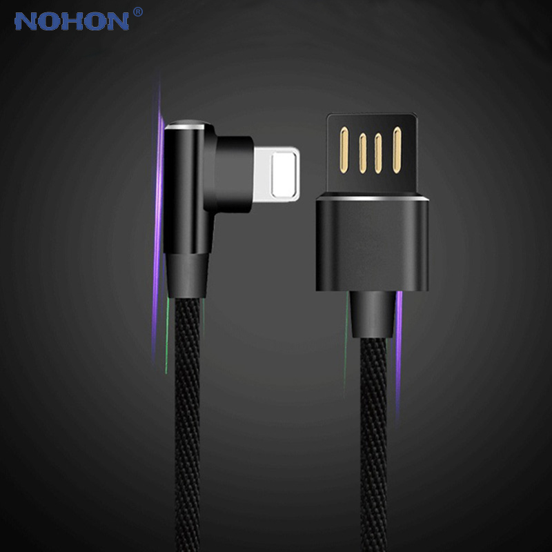 90 Degree USB Cable For iPhone 6 s 6s 7 8 Plus X Xs Max Xr 5 5s SE 5SE Fast Charging Charger L Type Data Cable Origin Wire Cord-in Mobile Phone Cables from Cellphones & Telecommunications on AliExpress