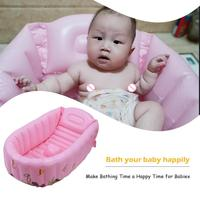 Non slip Newborn Baby Inflatable Bathtub Kids Portable Outdoor Water Play Pool Cartoon PVC Safety Infant Bath Tub Shower Product