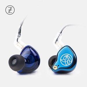 Image 2 - Ароматные наушники Zither TFZ T2, сценические наушники с 2 контактной металлической лицевой панелью, Hi Fi монитор IEM 3,5 мм, спортивные музыкальные динамические наушники для DJ, 2019