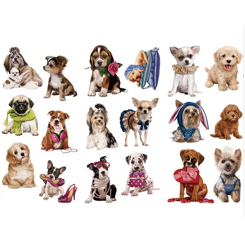 3 Pcs/lot Dog Washi Sticker Cute Animal Decoration DIY Diary Scrapbooking Label Stickers Stationery Gift School Supplies