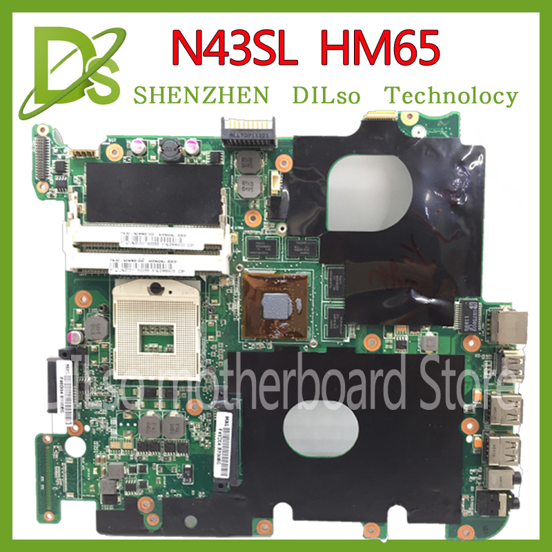 KEFU N43SM motherboard For ASUS N43S N43 N43SM N43SL N43SV HM65 laptop motherboard N43SM GT630M  HM65 motherboard Test work 100%KEFU N43SM motherboard For ASUS N43S N43 N43SM N43SL N43SV HM65 laptop motherboard N43SM GT630M  HM65 motherboard Test work 100%