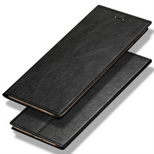 Deluxe flip phone case for Samsung Galaxy S6 S7 S8 S9 Plus ultra-thin oil wax leather suction cup portable A5 A8 J5 J7 2018 case