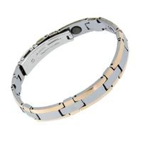 Fashion Luxury Fine Jewelry Bio Health Elements Energy Mens Pure Tungsten Bracelet Pure Germanium Balls Magnetic Man Bracelets