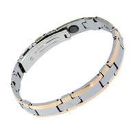 Fashion Luxury Fine Jewelry Bio Health Elements Energy Mens Pure Tungsten Bracelet Pure Germanium Balls Magnetic