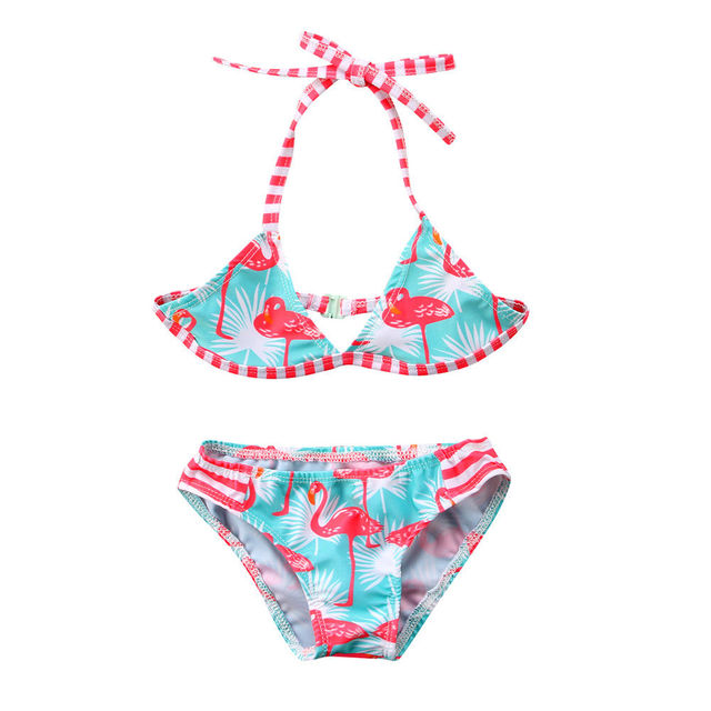 cc3baa2297 Sexy Flamingo Kids Baby Girl Bikini Bathing Swimsuit Swimwear Swimming Suit  Beachwear