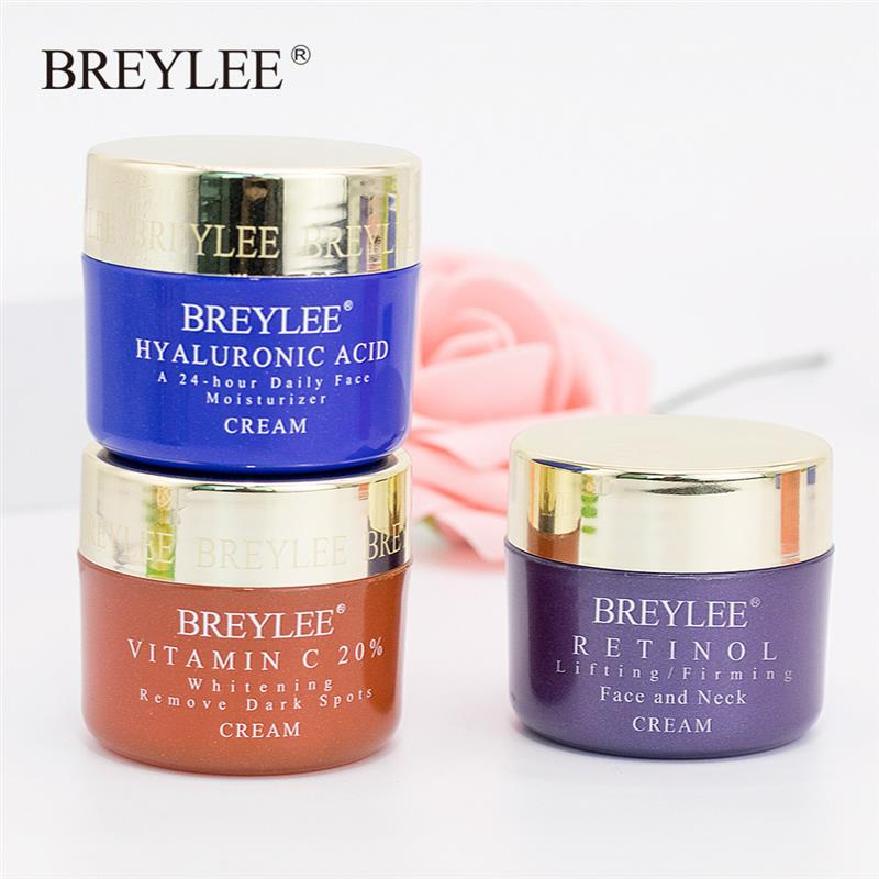 BREYLEE Face Cream Vitamin C Hyaluronic Acid Anti Wrinkle Anti Aging Moisturizing Serum Acne Treatment Whitening Facial Cream in Facial Self Tanners Bronzers from Beauty Health