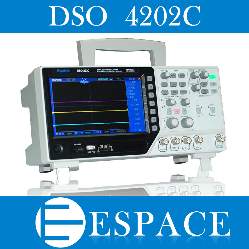 Hantek DSO4202C 2 Channel Digital Oscilloscope 1 Channel Arbitrary/Function Waveform Generator  From Factory