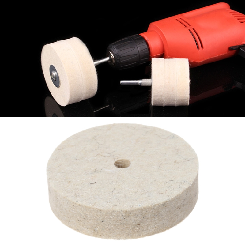 Image 5 - 76x20mm Wool Felt Polishing Buffing Grinding Wheel Polisher Disc Pad Rotary Tool-in Abrasive Tools from Tools