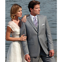 beach suits for wedding groom tuxedo light gray custom made suit 3 piece suits dress classic