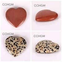 40mm Assorted rose Quartz Aventurine Fluorite opal Heart Shape pendants Lapis Crystal Chakra beads Natural Stone Healing Carved