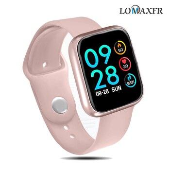 Smart Uhr Frauen Smartwatch Herz Rate Monitor T80 Fitness Tracker Armband Wasserdicht Sport Armband Für Android Ios Pk P70