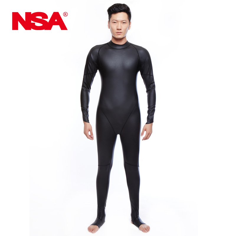 NSA Swimsuit Plus Size Swimwear men One Piece Suits Arena Swimming Maillot De Bain Femme PU Waterproof Swim Suit Full Body Warm