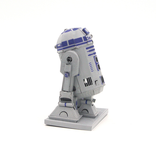 R2D2 C Star Wars Robot 3D metal assembly model Puzzle Stainless steel Plating color Creative toys
