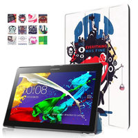 For Lenovo Tab 2 A10 30 Colorful Print Leather Case Cover For Lenovo Tab 2 A10