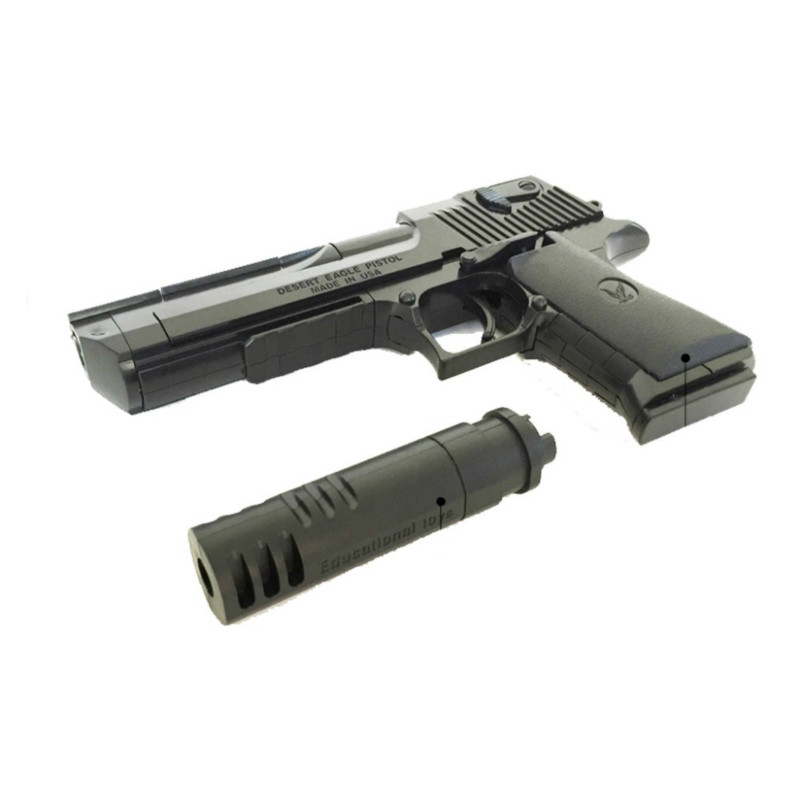 777A 45pcs Building block m1911 toy gun airsoft pistol desert eagle air soft ak47 sniper m4a1 children lepin Toys