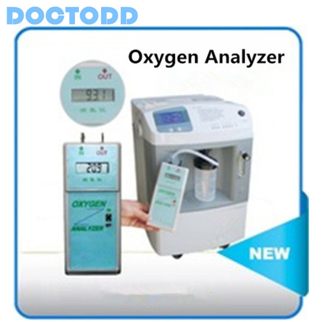 Digital LCD Display Portable Oxygen Analyzer Oxygen Concentrator Purity Oxygen Purity Analyzer Oxygen Density Analyzer