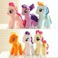 1 unids 16 cm Kawaii Rainbow Horse Juguetes de Dibujos Animados Juguetes de Peluche Muñecas TV Movie Stuffed pokemon Felpa Caballito