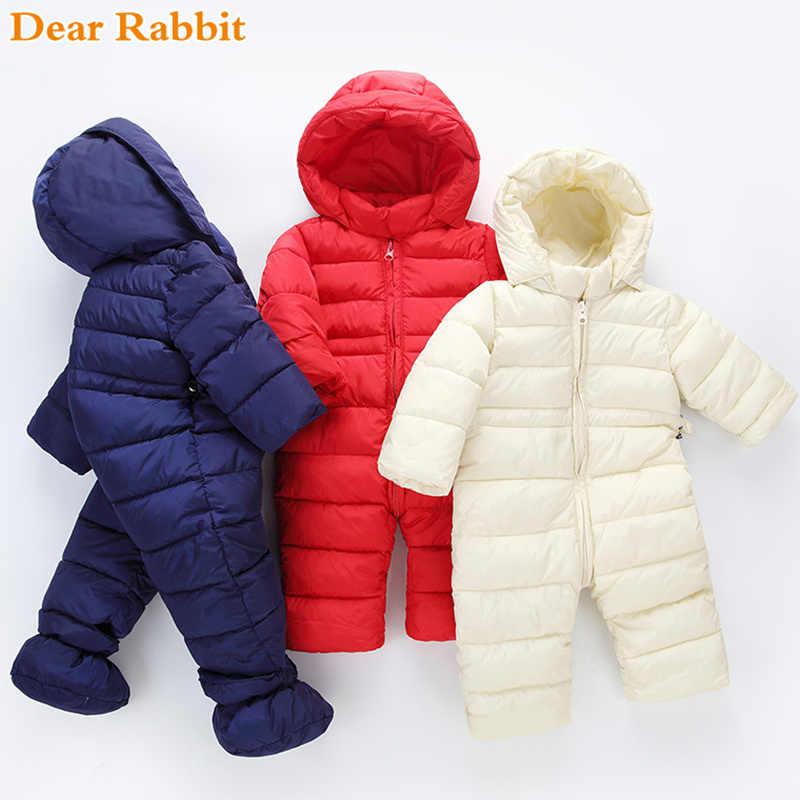 fb3999c45fd4 2018 brand newborn winter baby girl clothes boy clothing light cotton coats  spring jumpsuits kidsr snowsuit