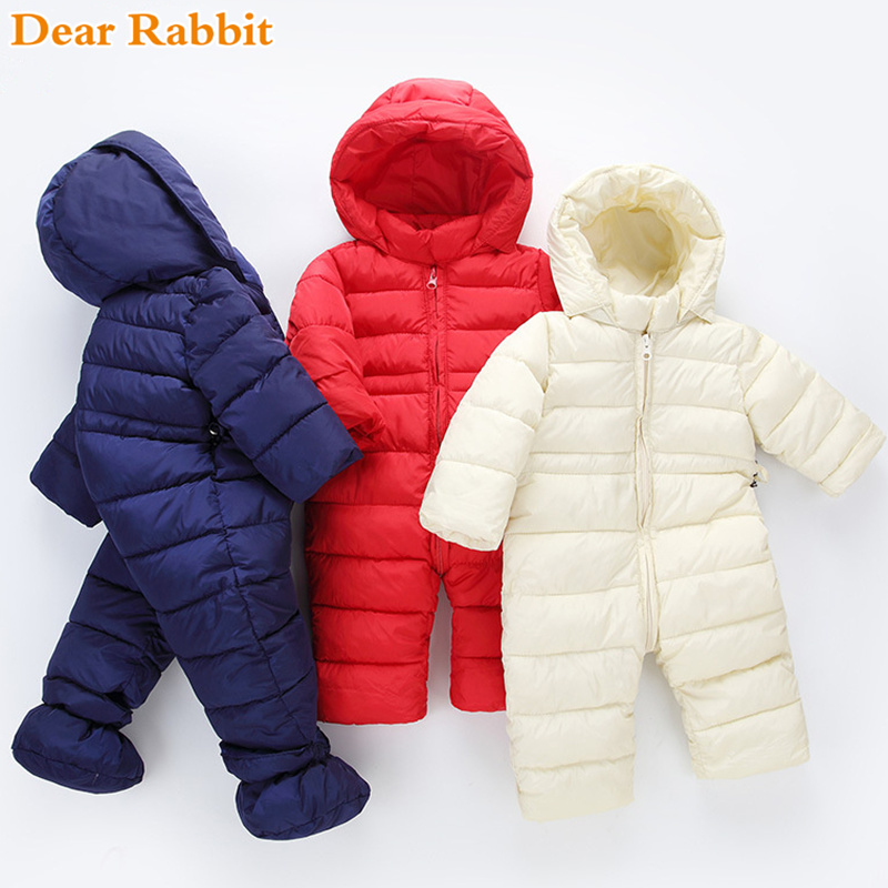 2019 brand newborn winter baby girl clothes boy clothing light cotton coats spring jumpsuits kidsr snowsuit Snow Wear warm rompe
