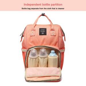 Image 5 - Lequeen ベビーおむつのためのママママバッグ大容量の産科おむつバッグベビーのためのベビーカー