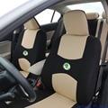 2 banco da frente Universal tampa de assento do carro para Skoda Octavia RS Fabia Superb Yeti Rápida Spaceback GreenLine Joyste acessó etiqueta