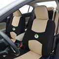 2 front seat Universal car seat cover for Skoda Octavia RS Fabia Superb Rapid Yeti Spaceback GreenLine Joyste accessorie sticker