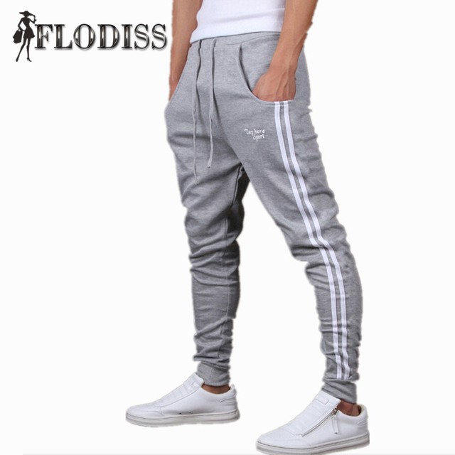 FLODISS Brand 2017 Men Good Quality Cotton Joggers Casual Harem Sweatpants Sporting Pants Man Tracksuit Bottoms Sportes Trousers