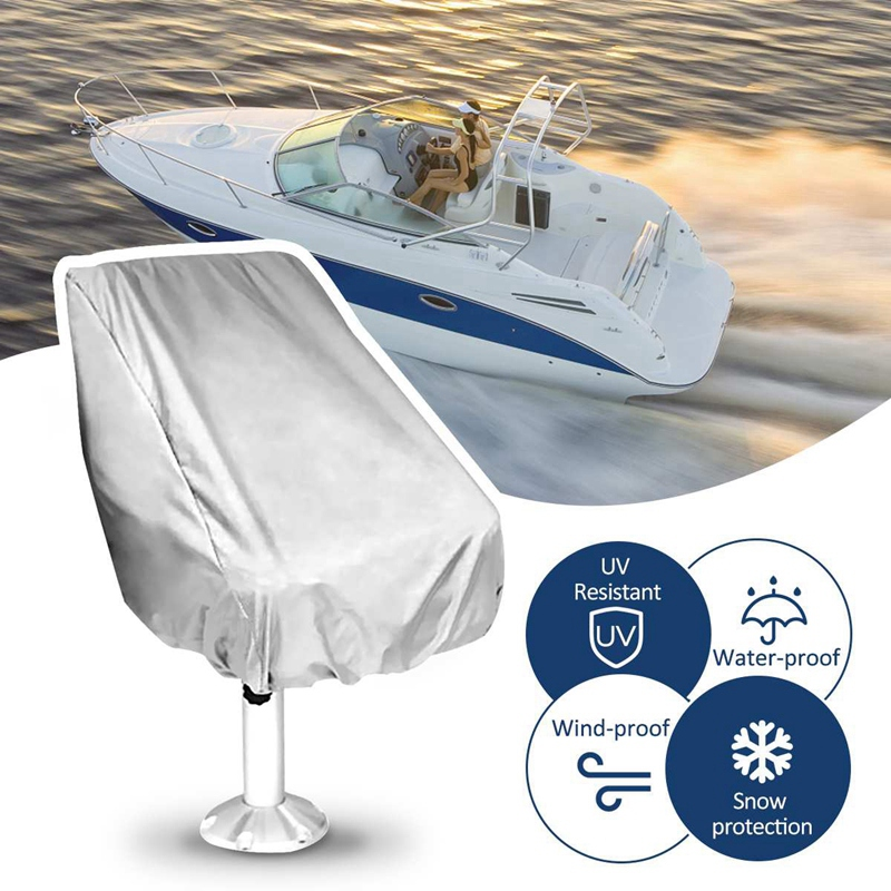 56x61x64Cm Boat Seat Cover Dust Waterproof Seat Cover Elastic Closure Outdoor Yacht Ship Lift Rotate Chair Cover